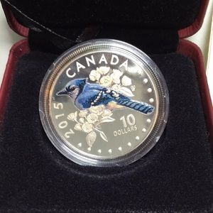 $10 CAD Mint Fine Silver Blue Jay Coin